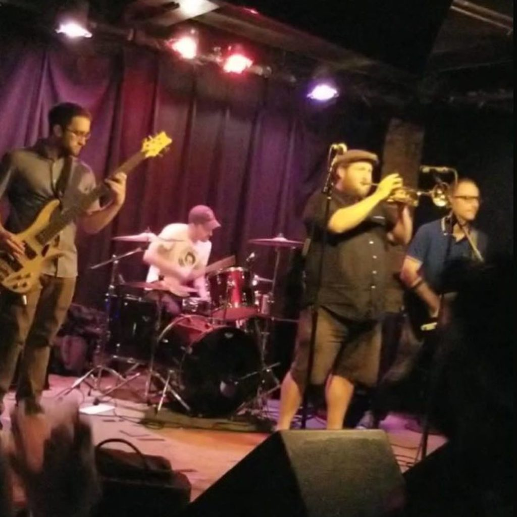 The New Limits perform at Great Scott in August 2018